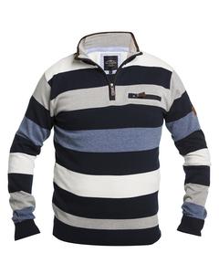Striped Half-zip Sweater Multicolor
