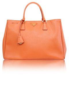 Saffiano Luxe Orange Einkaufstasche
