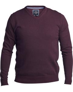 V-neck Sweater Wine
