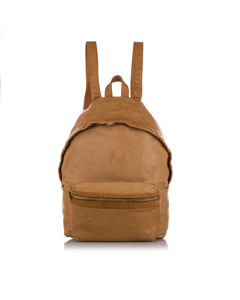Ysl Hunting Leather Backpack Brown