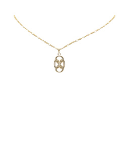 Celine Gold Tone Necklace Gold