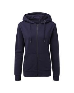 Asquith & Fox Womens/ladies Zip-through Organic Hoodie