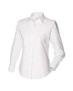 Henbury Womens/ladies Long Sleeved Classic Oxford Work Shirt