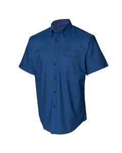 Henbury Mens Short Sleeve Classic Oxford Work Shirt