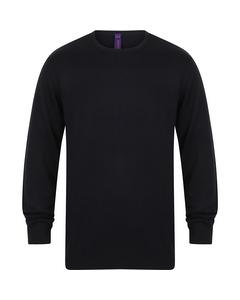 Henbury Mens Crew Neck 12 Gauge Fine Knit Jumper / Sweatshirt