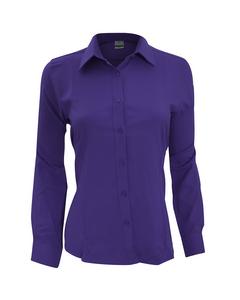 Henbury Womens/ladies Wicking Long Sleeve Work Shirt