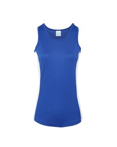 Awdis Just Cool Womens/ladies Girlie Contrast Panel Sports Vest Top