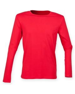 Skinnifit Herren Feel Good Stretch T-Shirt, langärmlig
