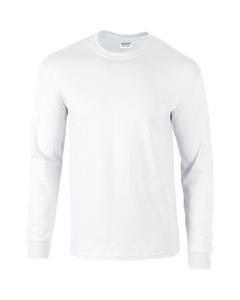 Gildan Heren Effen Bemanningsleden Hals Ultra Katoen Lange Mouw T-shirt