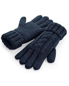 Beechfield Unisex Cable Knit Melange Gloves
