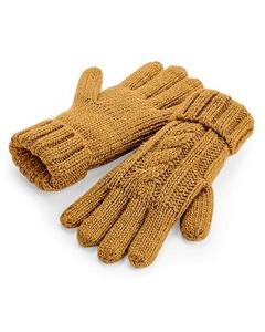 Beechfield Unisex Kabelbreiwerk Melange Handschoenen