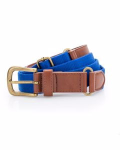 Asquith & Fox Mens Faux Leather And Canvas Belt