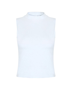 Skinni Fit Womens/ladies High Neck Crop Sleeveless Vest Top