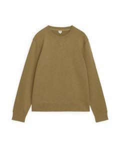 French Terry Sweatshirt Dark Beige