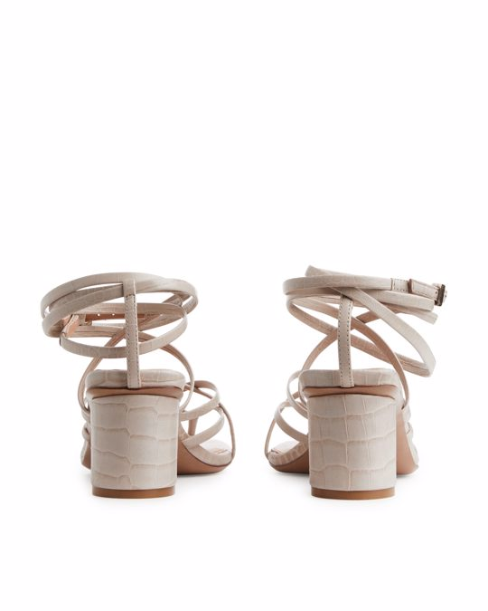 Arket Strappy Leather Sandals Beige