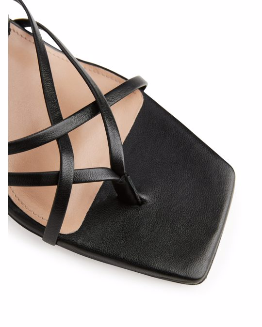 Arket Strappy Leather Sandals Black
