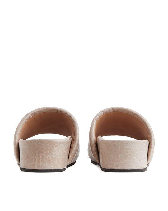 Arket Leather Slide Light Beige
