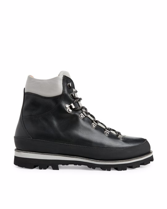 Arket Leather Hiking Boots Black/grey