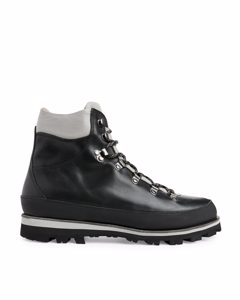 Leather Hiking Boots Black/grey