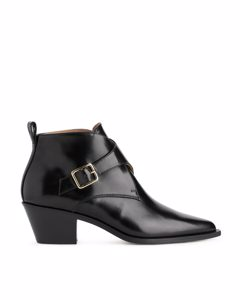 Monk-strap Ankle Boots Black