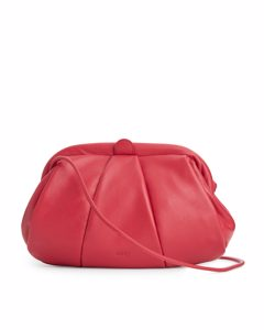 Small Leather Clutch Red