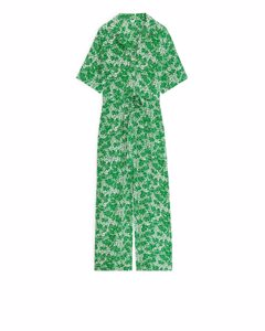 Floral Jumpsuit White/green