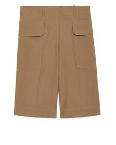Utility Shorts Beige