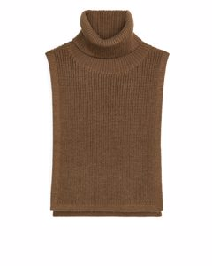 Alpaca Bib Neck Light Brown
