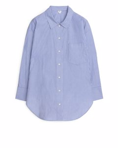 Striped Pyjama Shirt White/blue