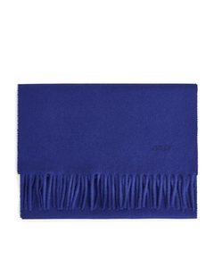 Woven Wool Scarf Blue