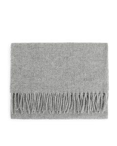 Woven Wool Scarf Grey
