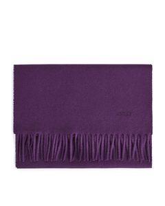Woven Wool Scarf Purple