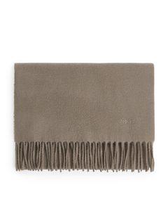 Woven Wool Scarf Beige
