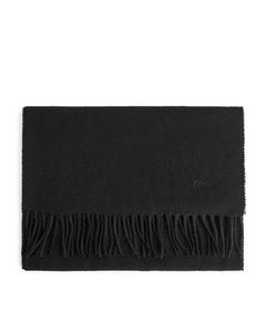 Woven Wool Scarf Black