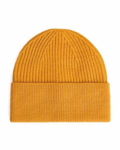 Cotton Wool Beanie Dark Yellow