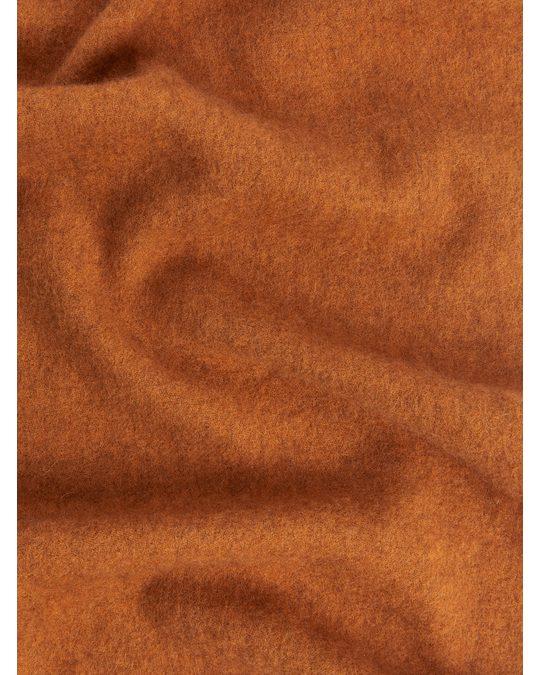 Arket Woven Yak Scarf Orange
