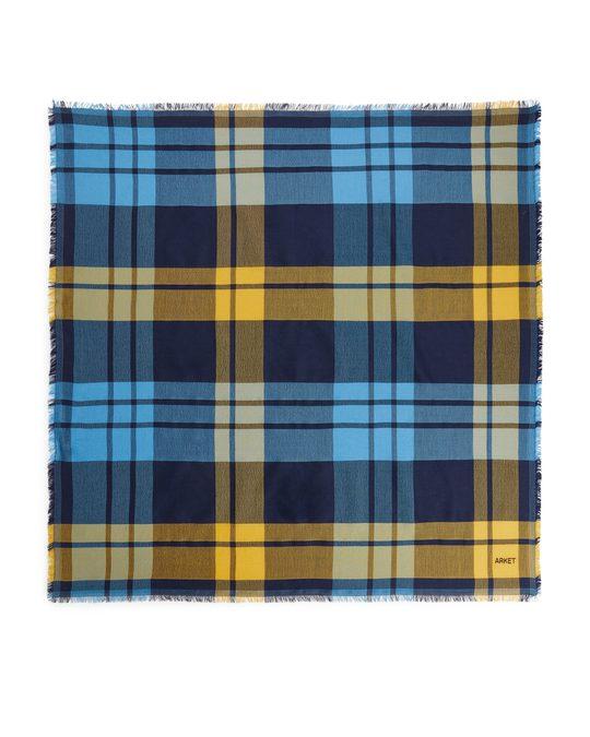 Arket Wool Blend Scarf Blue