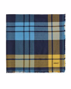 Wool Blend Scarf Blue