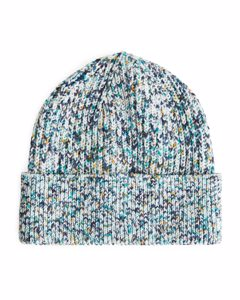 Spray Dye Cotton Beanie White/multicolour