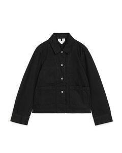 Cotton Twill Workwear Jacket Black