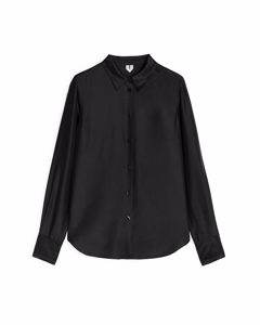 Slim Silk Shirt Black