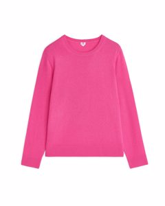 Cashmere Crew-neck Jumper Bright Pink