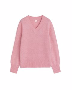 Alpaca Wool Blend Jumper Light Pink