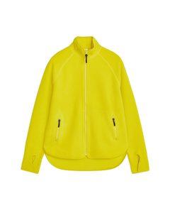 Fleece Zip Jacket Yellow