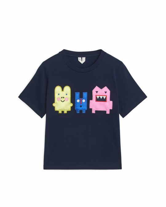 Arket Monsters T-shirt Dark Blue
