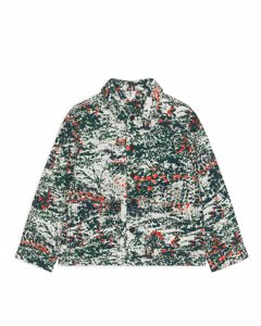 Printed Twill Overshirt Green/multi