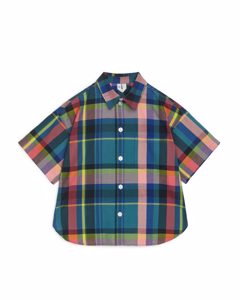 Short-sleeved Shirt Blue/checked