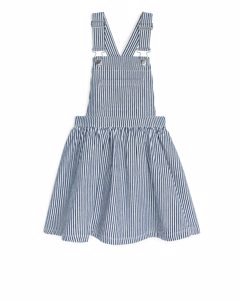 Hickory Dungaree Dress Blue/white
