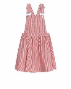 Hickory Dungaree Dress Red