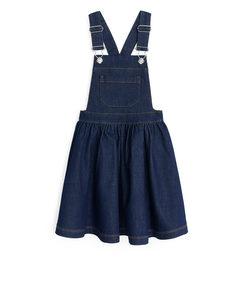 Denim Dungaree Dress Blue